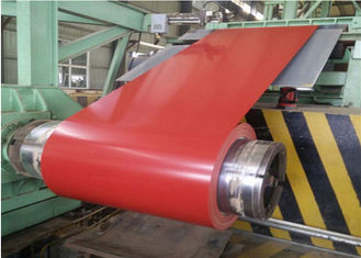 China 0.37 * 1219 Prepainted Galvanized Steel Coil / Color Coated Steel Sheet For Building supplier