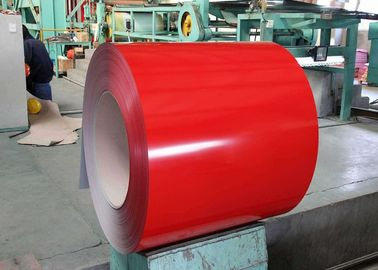 China PVDF Pre Painted Steel Sheet , Color Coated Steel Plate For Construction Building Board supplier