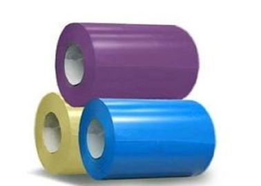 China High Strength Prepainted Steel Coil , Color Coated Steel Coil JIS G3312 ASTM G550 supplier