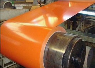 China Orange Color Pre Painted Galvanized Coils For Prefabricated House Warehouse supplier