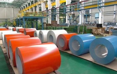 Color Coated Galvanized Steel Coil / PPGI Roofing Sheet For Building Material